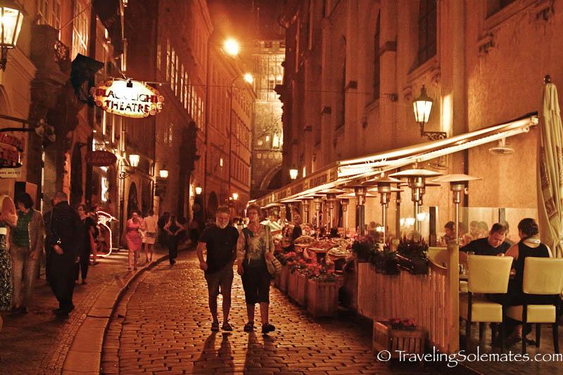Strolling in Stare Mesto at night, Prague, Czech Republic