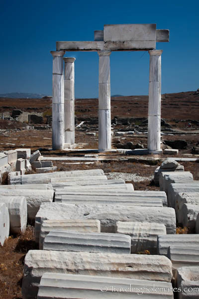 The Ruins of Establishment of Poseidoniasts, Delos, Greece