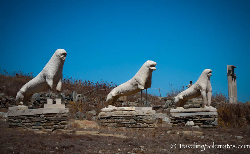 Terrace of Lions, Delos, Greece
