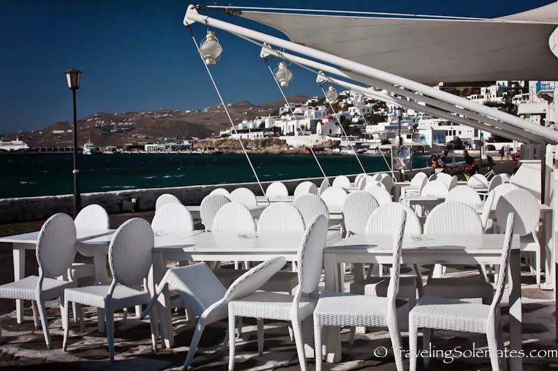 Cafe by Old Port, Mykonos, Greece