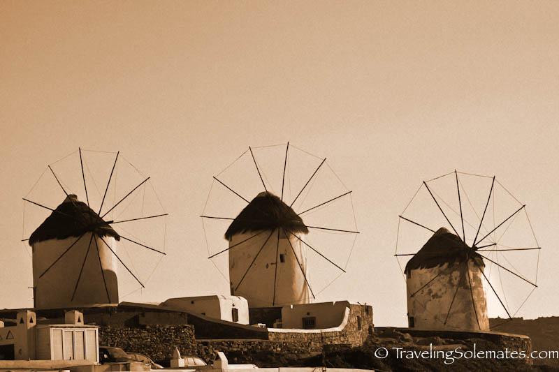 Windmills of Mykonos, Greece
