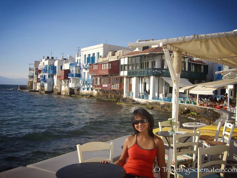 Cafes in Little Vence, Mykonos, Greece