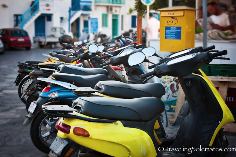 Motobikes, Mykonos Greece