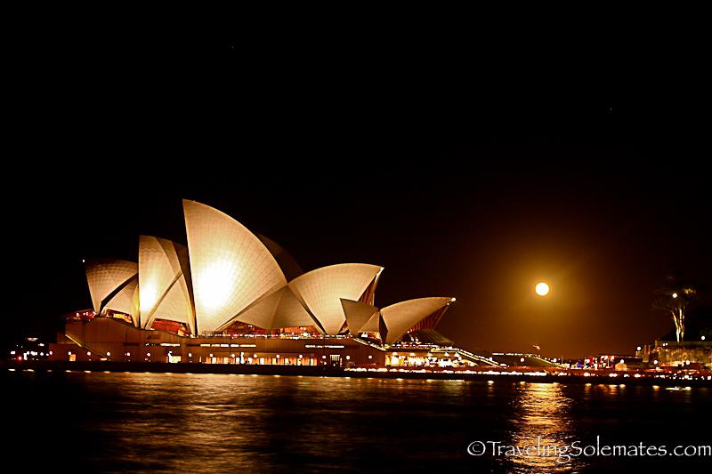 Moon over Sydney Opera House, Australia
