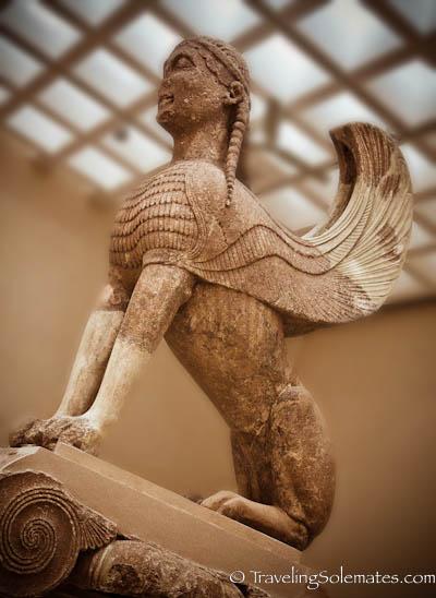 The Sphinx of Naxian, Museum, Delphi, Greece
