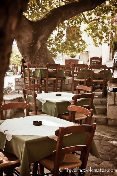 Taverna in the Village of Delphi, Greece