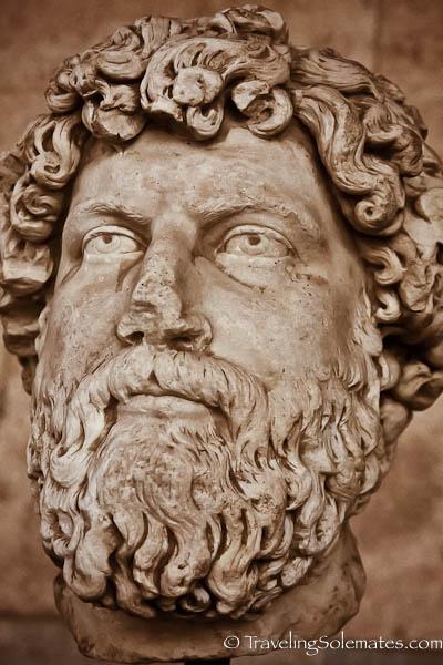 Statue at Ancient Agora, Athens, Greece