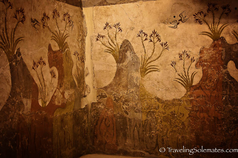 Spring Wall, Minoan Frescoes, National Archeological Museum, Athens, Greece