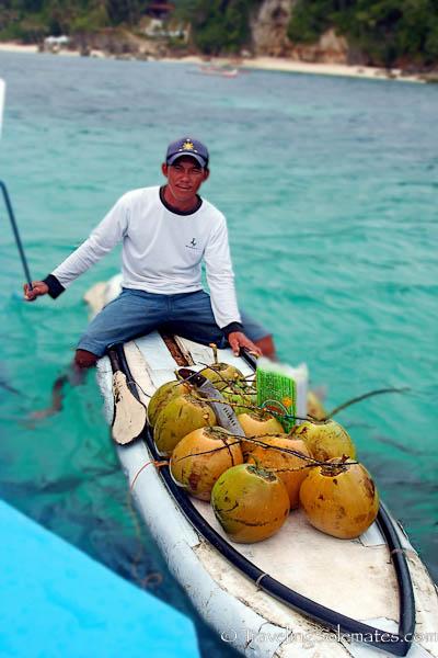 Coconut vendor, Boracay Island, Philippines