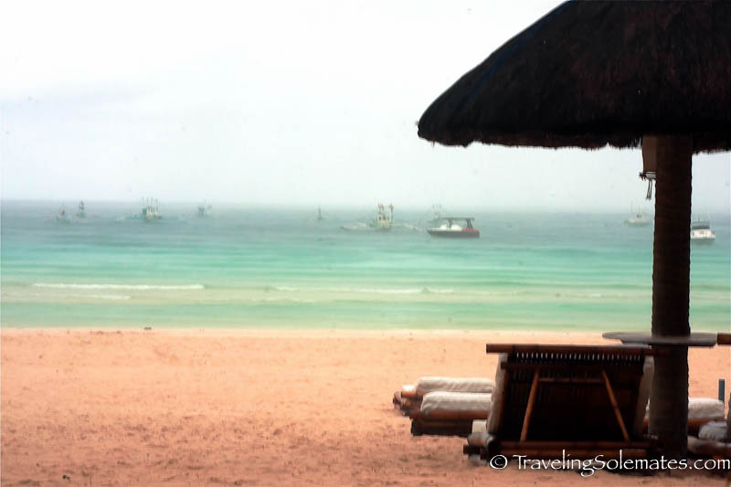 Rainy afternoon in Boracay Island, Philippines
