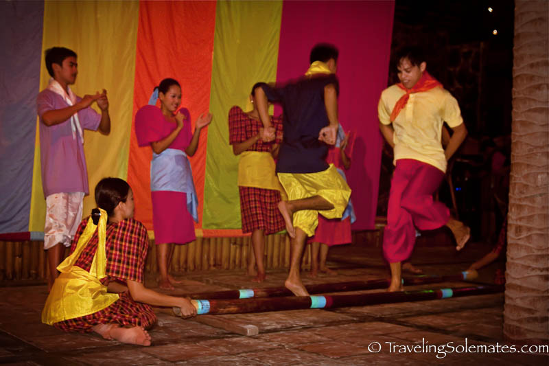 Tinikling Dance performance at Friday's Resort, Boracay Island, Philippines