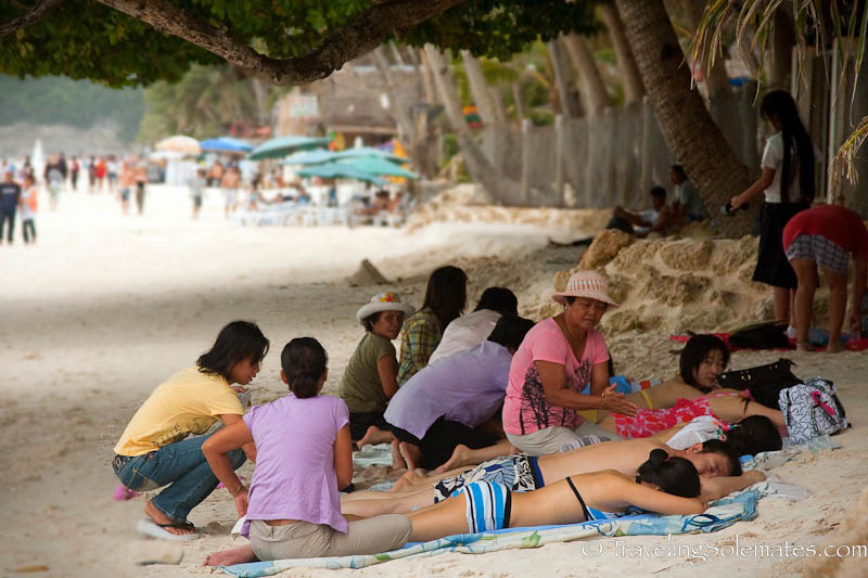 Massage by the Beach, Boracay, Philippines