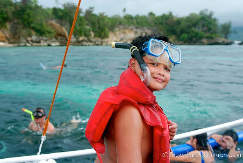 Snorkeling in Boracay Island, Philippines