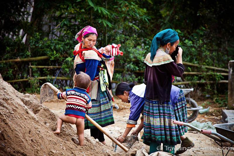 Flower Wonen-Trekking in the Hillribe Villages around Bac Ha, Vietnam