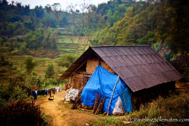 A house of Flower Hmong, Trekking in the Hillribe Villages around Bac Ha, Vietnam