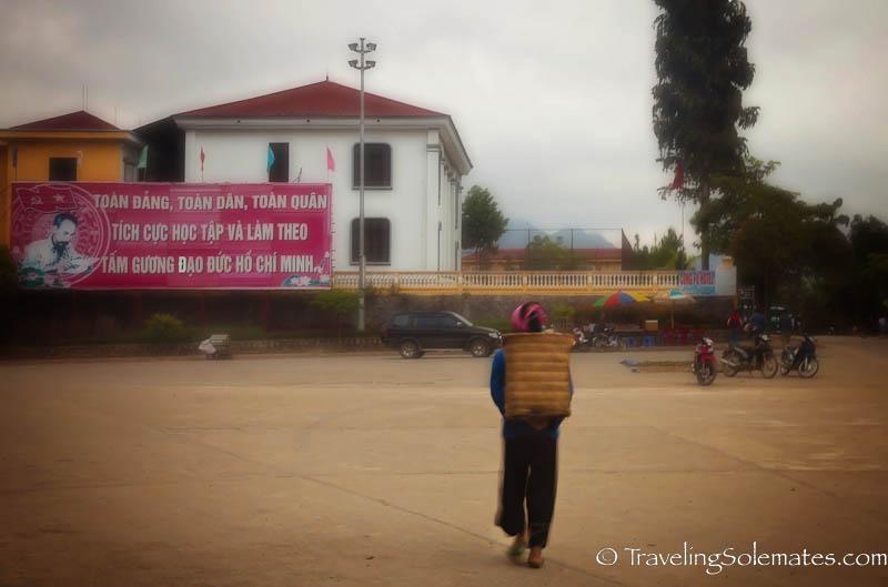 Ba Cha Main Square - Trekking in the Hillribe Villages around Bac Ha, Vietnam