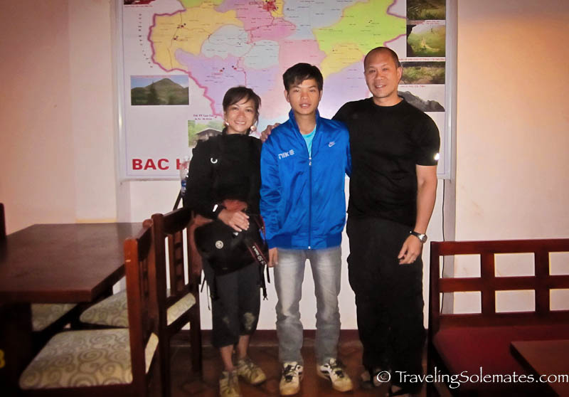 With our guide Ngoc Tohn - Trekking in the Hillribe Villages around Bac Ha, Vietnam