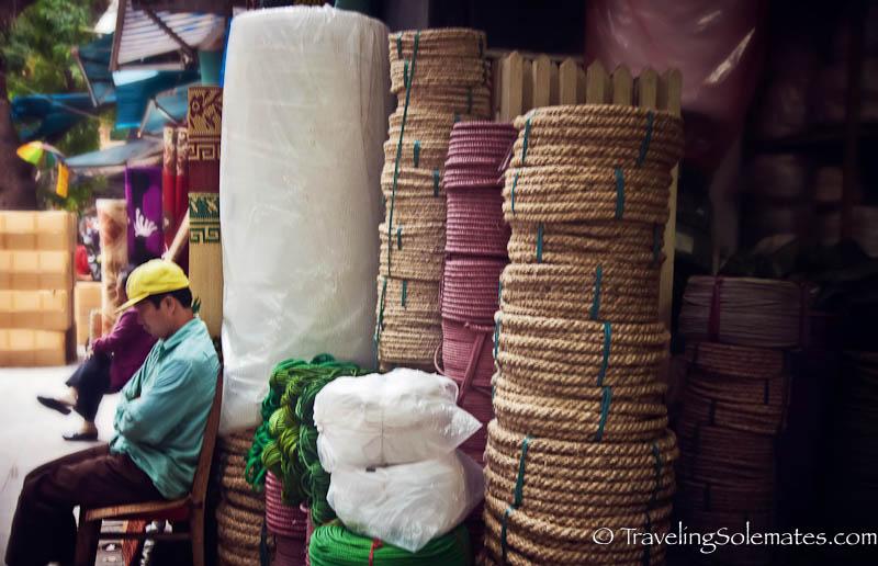 Rope store, Old Quarter, Hanoi, Vietnam
