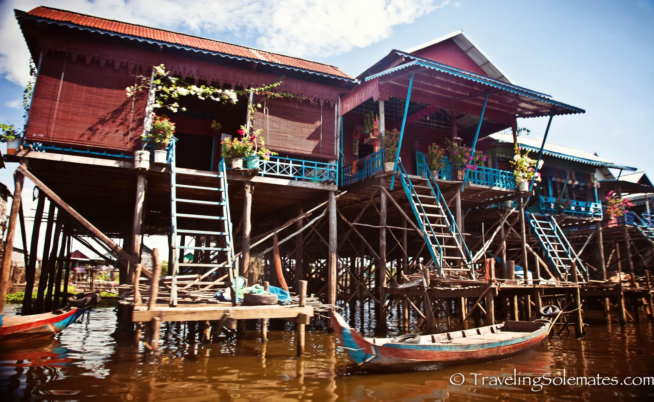 Stilted Houses in Floating Village of Kompong Phluk, Tonle Sap, Cambodia