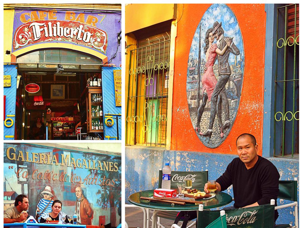 Cafe in Caminito, La Boca, Buenos Aires, Argentina