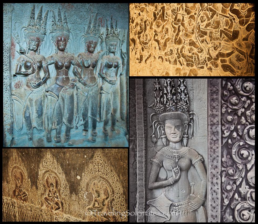 Angkor Wat bas relief, Cambodia