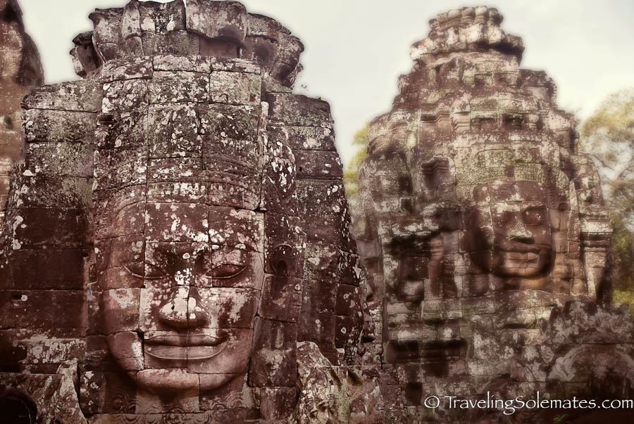 Faces in Bayon Temple. Angkor Wat, Cambodia