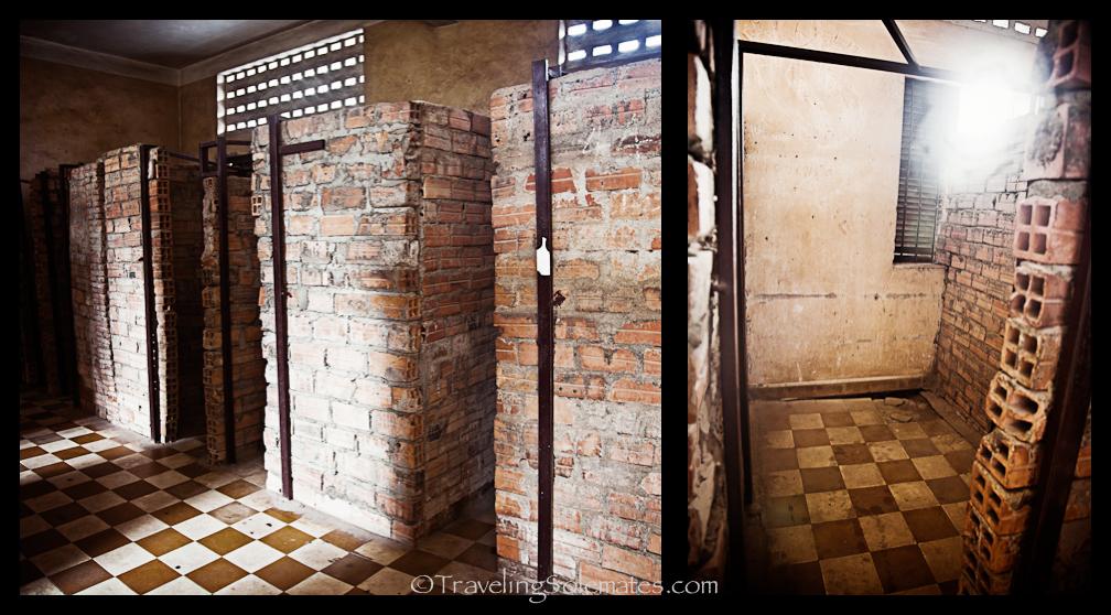 Cells in Tuol Sleng Prison, Phnom Penh, Cambodia