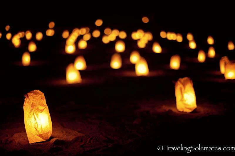 Candles, Petra by  Night, Jordan