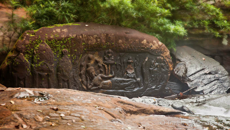 -Reclining Vishnu, Kbal Spean, Cambodia
