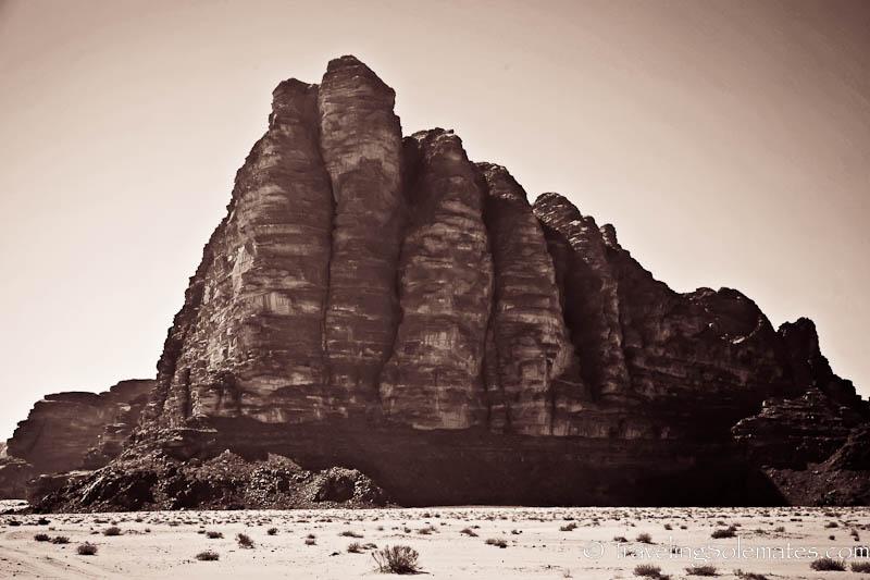 The Seven Pillar of Wisdom,  Wadi Rum, Jordan