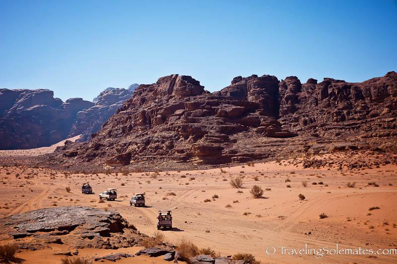 Jeep Safari, Desert and Rock Formations in Wadi Rum, Jordan