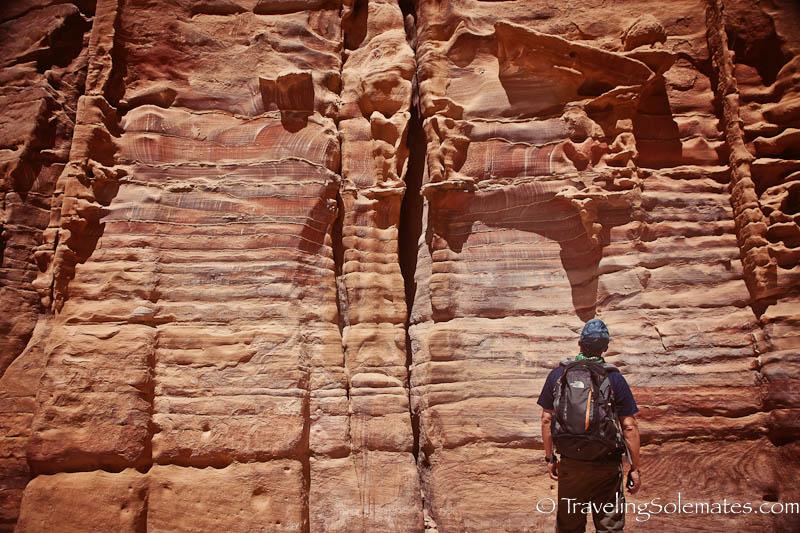 Rocks on the Avenue of the Facade, Petra, Jordan