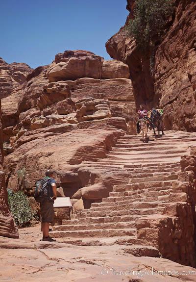 Stair steps  to the Monastery, Petra, Jordan
