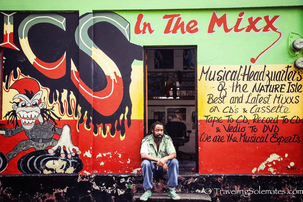 Music Storein Roseau, the capital of Dominica