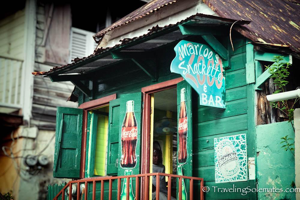 A store in Roseau, Dominica