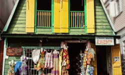 Colorful shop in Roseau, the Capital of Dominica