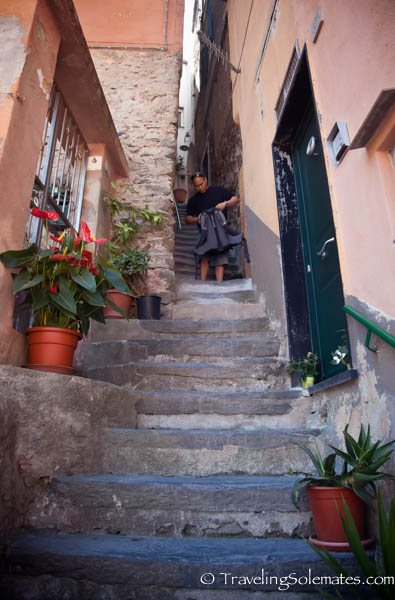 Stairs in Vernazza, Cinque Terre, Italy