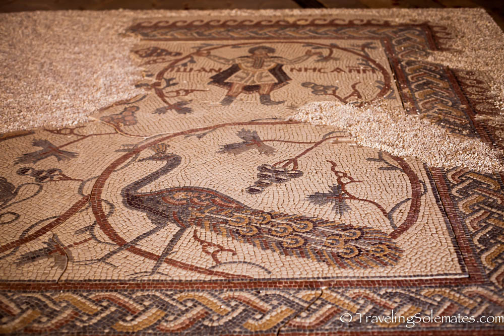 Mosaics in Mt. Nebo mosaic, Jordan