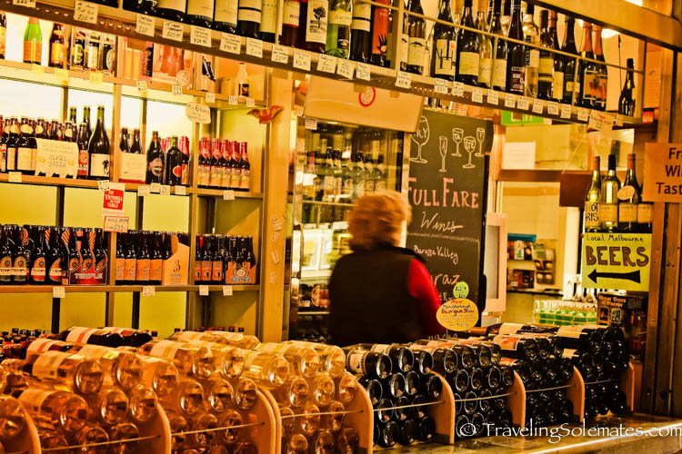 Wine Stall, Queen Victoria Market, Melbourne, Australia