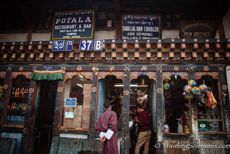 Shops in Thimphu, Bhutan