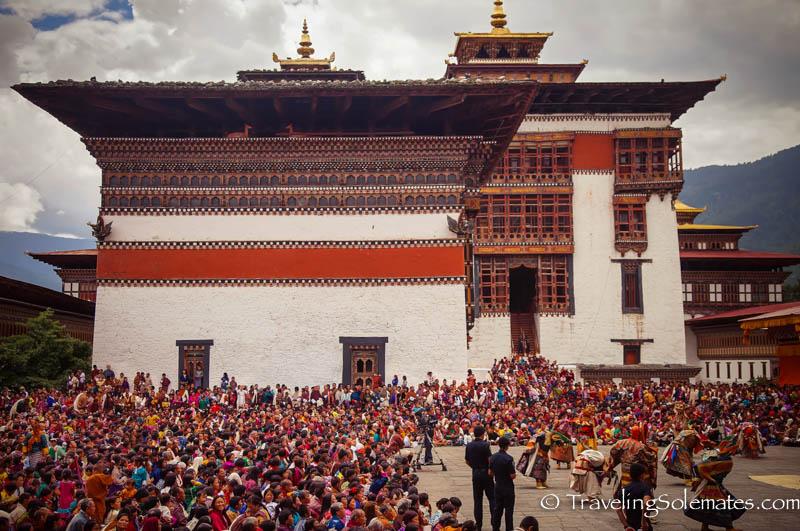 Thimphu Drochoe Festival, Tashichho Dzong, Thimphu, Bhutan