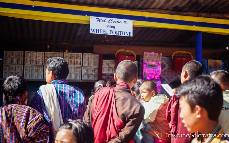 Fair ground in Tsechue Festival in Wangdue, Bhutan