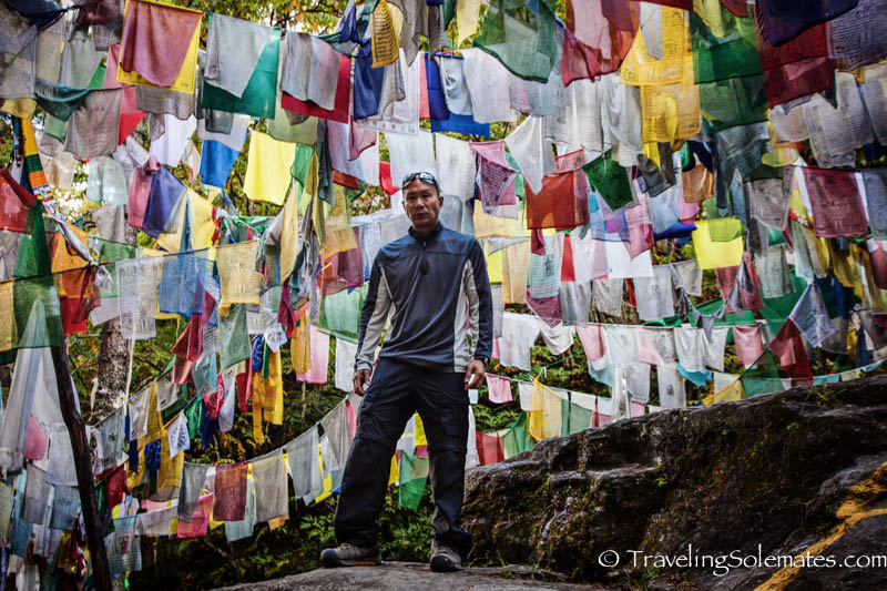Prayer Flags  next to a holy lake in  Bumthang, Bhutan