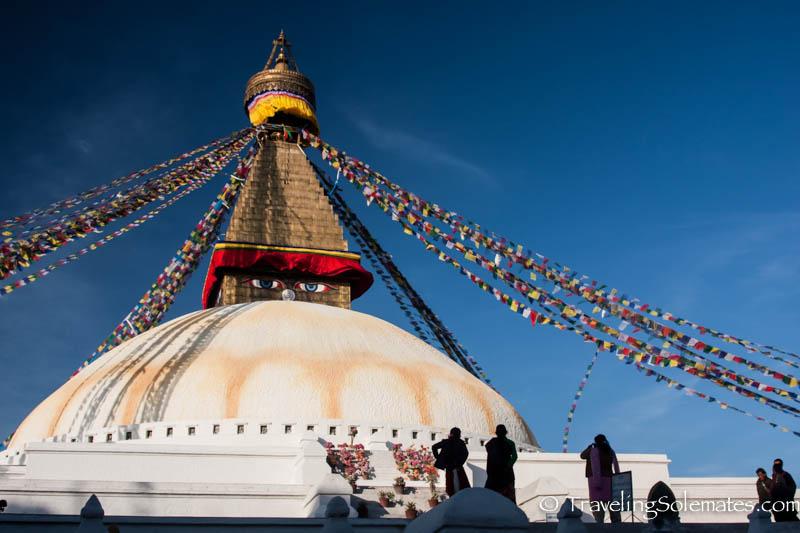 Prayers Flags on Bodnath Stupa, Kathmandu, Nepal