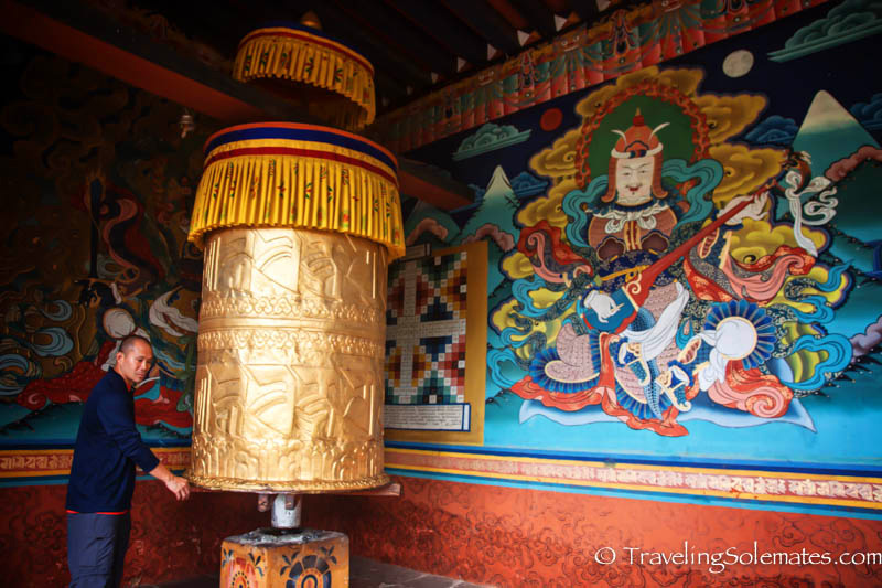Prayer Wheels in Punakha Dzong, Bhutan