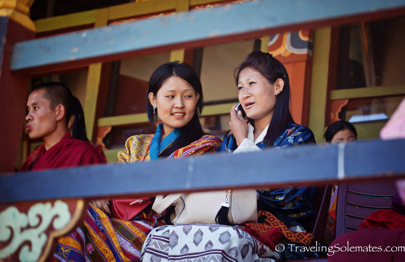 Women audience at Tsechue Festival in Wangdue, Bhutanjpg