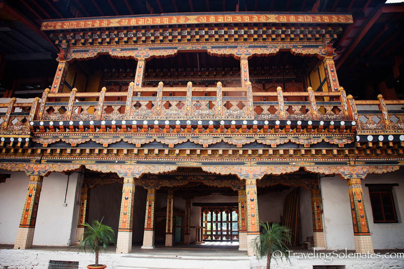 Architectural Detail, Punakha, Dzong, Bhutan