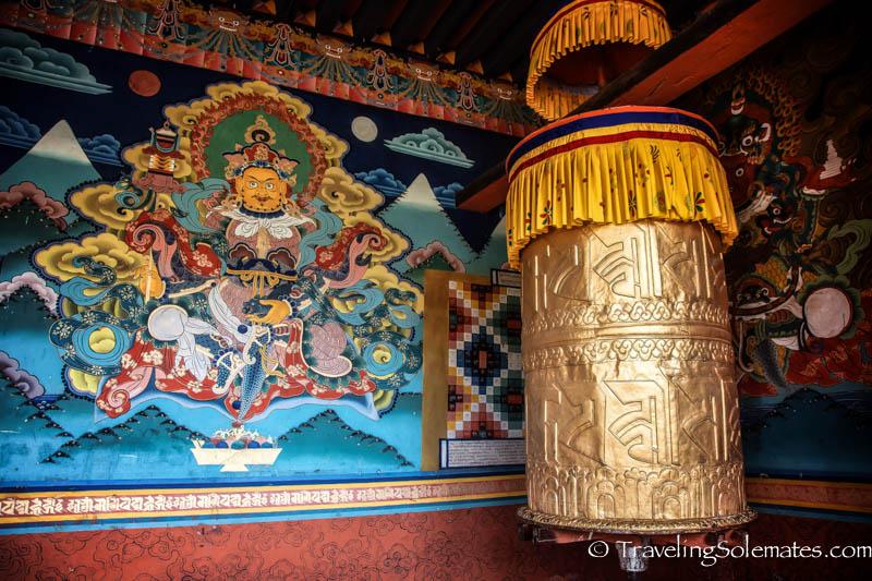 Prayer wheel in Punakha Dzong, Bhutan