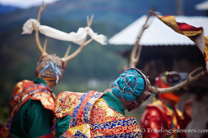 Dance of the Stag, Mask Dance in Tamshing Phala Chhoepa Festival at Tamshi Lhakhang, Bumthang, Bhutan