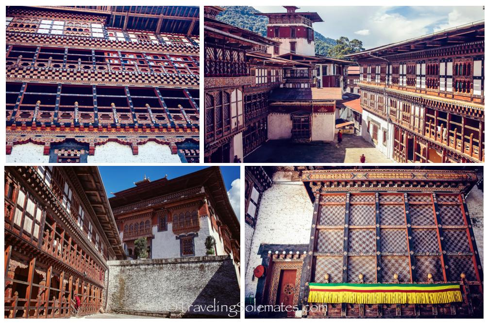 Trongsa Dzong Courtyards